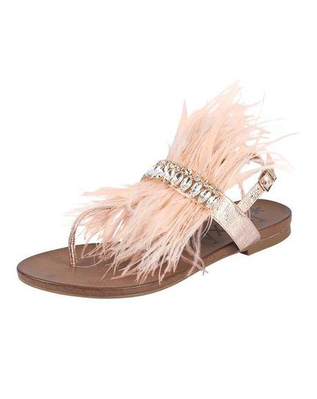 """Sandále """"Dianette"""" s perím, ružová"""