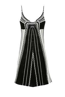 Jemne pletené šaty GUESS, krémovo-čierna
