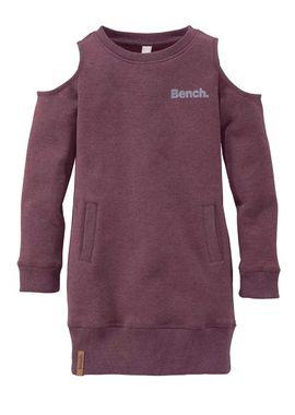 Bench dievčenské mikinové šaty, bordová