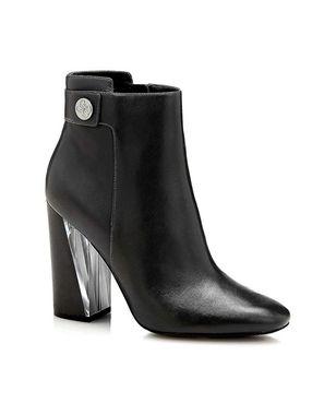 """GUESS kožené členkové topánky """"ELEDA"""", čierna"""