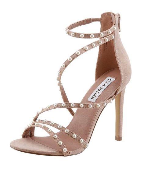 Sandálky s perlami STEVE MADDEN, púdrová