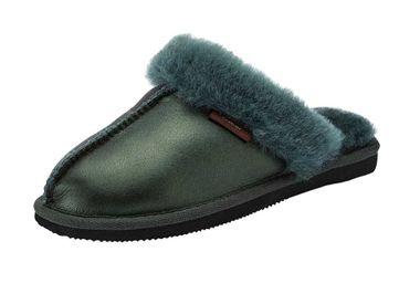 GABOR papuče z ovčej kože, zelená
