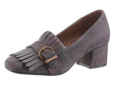 Kožené topánky Lola Cruz, šedé