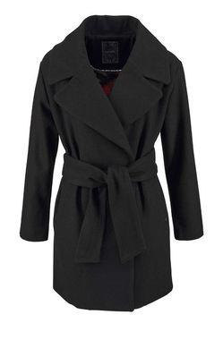 Vlnený kabát Kaporal, čierna