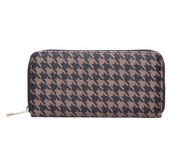 Peňaženka so vzorom , hnedá