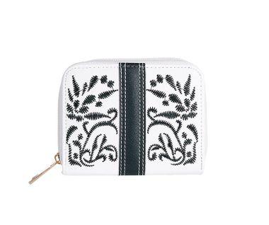 Peňaženka s ľudovým motívom, čierno-biela