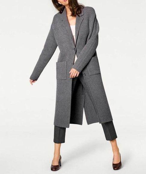 Pletený kabátik Patrizia Dini, šedý