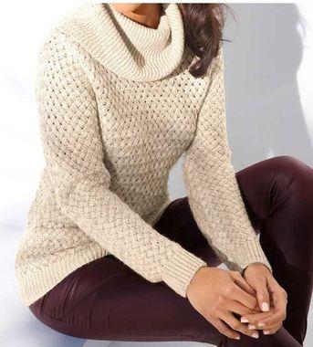 Pletený pulóver s rolákom Ashley Brooke