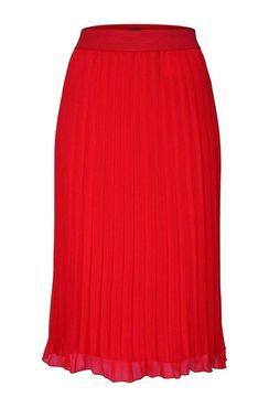 Plisovaná sukňa Bruno Banani, svetločervená