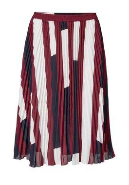 Plisovaná sukňa, červeno-modrá