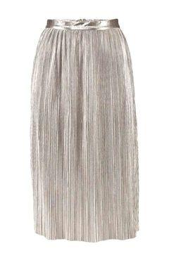 Plisovaná sukňa Garcia, strieborná