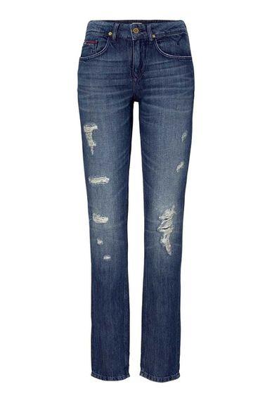 Roztrhané džínsy HILFIGER DENIM, modré