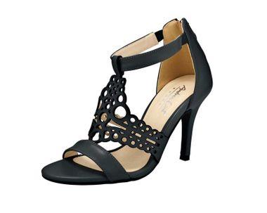 Pohodlné kožené sandále v Cut Out dizajne, čierna
