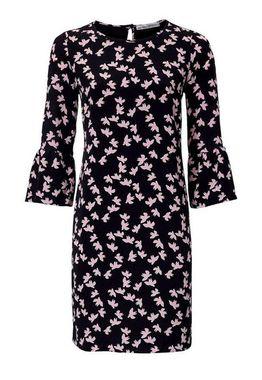 Šaty s potlačou čierno-ružové