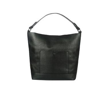 Shopperka na plece s predným vreckom, čierna