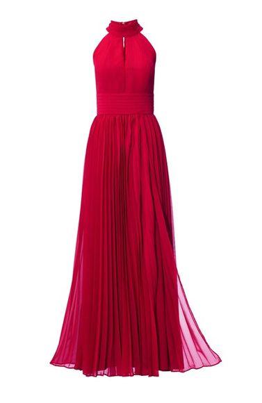 Šifónové červené večerné šaty
