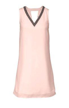 Šifónové ružové šaty VERO MODA