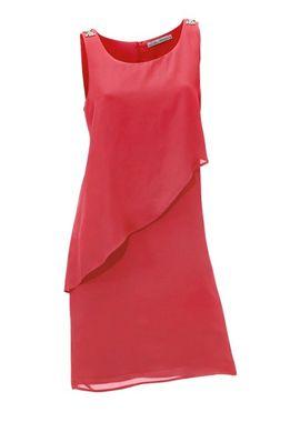 Spoločenské žiarivo-červené šaty so štrasom