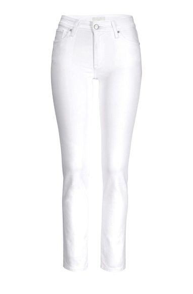 Strečové džínsy 34inch CROSS, biele