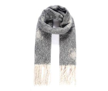 Objemný tkaný šál s bodkovaným vzorom, šedá