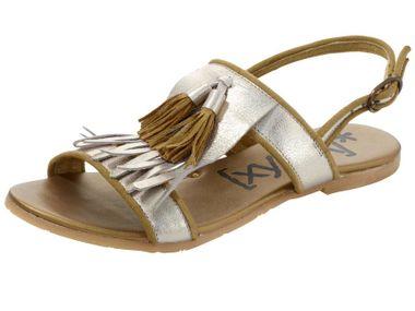 Trendy sandále so strapcami, zlaté