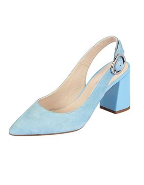 Semišové topánky Heine, svetlo-modrá