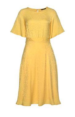 VERO MODA šaty Lou so žakárovým vzorom, žlté