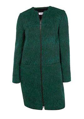 Vlnený flísový kabát, zelený