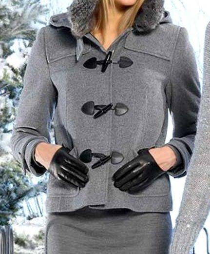 Vlnený kabát s kapucňou APART