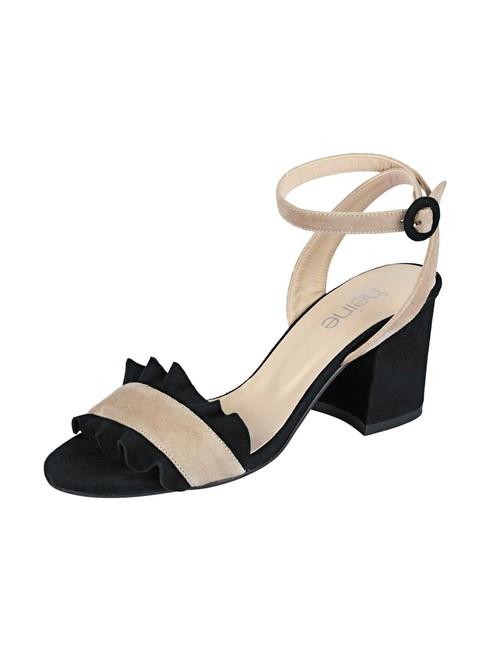 3b884fb53f Semišové sandále Heine